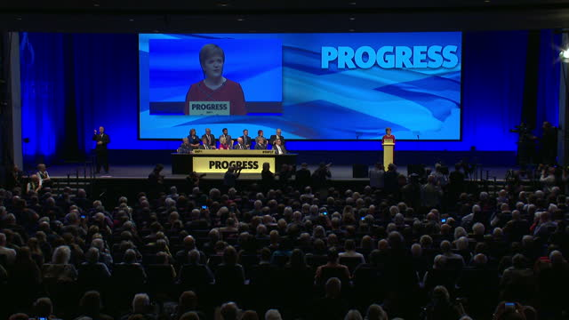 Interior speech by SNP Leader Nicola Sturgeon at the annual SNP conference on 10th October 2017 Glasgow Scotland