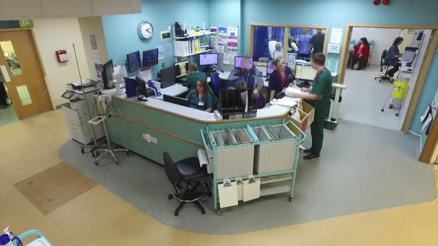 Interior timelapse footage of staff going about their work in the Accident and Emergency department at Christchurch Hospital>> on February 09 2017 in...