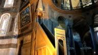 4K interior video of Hagia Sophia
