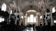 Interior view of a church in the city of London