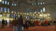 Interior view of Blue Mosque Istanbul, Turkey
