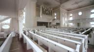 MS Interior view of Ludwig church / Saarbrucken, Saarland, Germany
