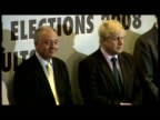 Interiors Boris Johnson stands next to Ken Livingstone awaiting results from returning officer Interiors Boris Johnson declared new Mayor of London...