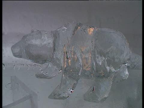 Interiors of ice hotel
