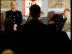 Interm report findings ENGLAND North Yorkshire York INT MS Vic Coleman and Chief Constable David Kenworthy standing up at press conference table PULL...