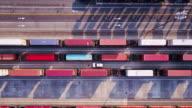 Intermodal Transport: Freight Trains in Port Terminal
