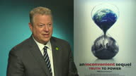 Internal shots interview with Al Gore former US Vice President RE speaking about President Donald Trump sustainability climate change Trump pulling...