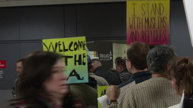 International arrivals at Dulles International Airport following federal judge's decision to suspend President Donald Trump's order to block...