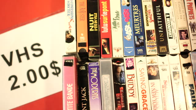 International films VHS sign and price go out of focus NO