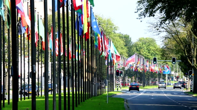 International Flags in The Hague, Holland