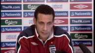 England press conference Ferdinand press conference SOT Looking forward to trying to get good result and putting on performance for fans / Praises...