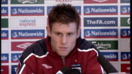 England press conference Milner press conference SOT Praises management of Martin O'Neill / Enjoying playing for great club like Aston Villa / Talks...