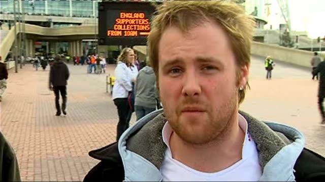 England v Slovakia Jamie Weir package England fans vox pops SOT