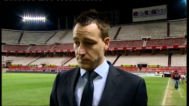 Spain v England postmatch interviews John Terry interview SOT Thinks Spain are best team in world / Believes Xavi is one of best players in world and...