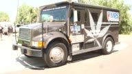 MPS International makes a pick up from a legal marijuana dispensary in Denver Colorado US on August 24 2014 Shots Wide shots and close ups of MPS...
