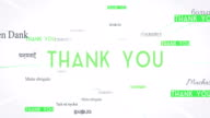 International THANK YOU Words Flying Towards Camera (White) - Loop