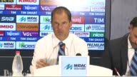 Internazionale Milano headcoach Frank De Boer speaks to the media during a press conference after the Italian Serie A Football match between Chievo...