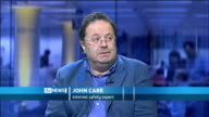 Convicted paedophiles to be barred from social networking sites ENGLAND London GIR INT John Carr STUDIO interview SOT