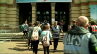 YouTube 'Summer in the City' convention at Alexandra Palace ENGLAND London Alexandra Palace 'Summer In the City' convention EXT Various of queues of...