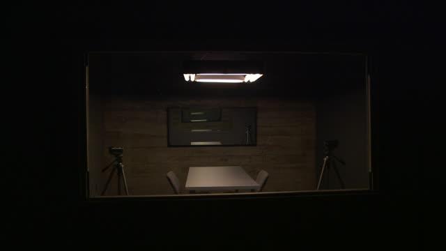Interrogation room with cameras
