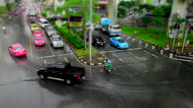 Intersection and rain