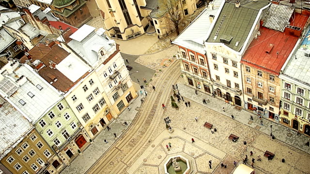 Intersection in an old town
