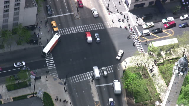 Intersection on Michigan Avenue in Chicago