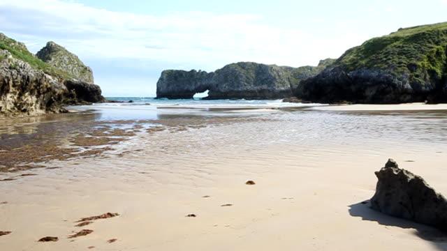 Intertidal beach in Northern Spain