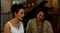 Interview Angela Gheorghiu and Roberto Alagna ENGLAND London Royal Opera House INT Interview Angela Gheorghiu and Roberto Alagna SOT