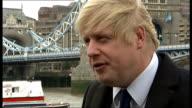Interview Boris Johnson on Heathrow Airport expansion plans ENGLAND London EXT Boris Johnson arriving for interview Boris Johnson interview SOT it's...