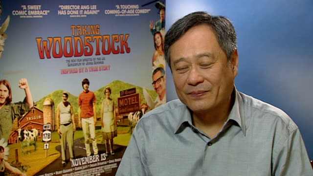Interview Director Ang Lee Ang Lee interview continued SOT Whether he's ever been tempted to go to Glastonbury no not really How it was the happiest...