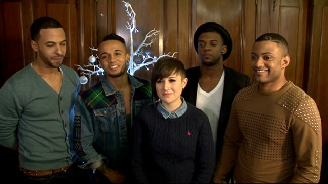 London INT Marvin Humes Aston Merrygold Oritse Williams and JB Gill JLS members and Lauren George interview SOT