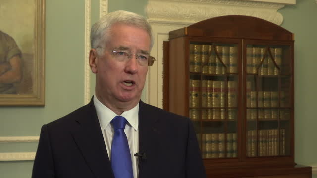 Interview grab Sir Michael Fallon talking about mental health awareness for the armed forces at the Ministry of Defence in London on October 9th 2017...