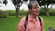 Interview Secretary of the Interior Sally Jewell is interviewed after a visit to the Everglades National Park on May 1 2013 in Miami Florida In...