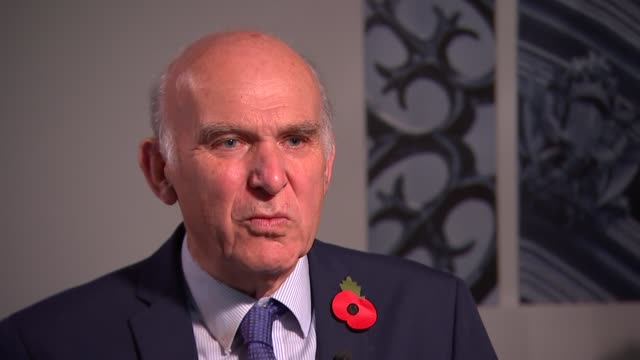Interview Sir Vince Cable on Bank of England rate rise and abuse scandal in parliament ENGLAND London INT Sir Vince Cable MP interview re Bank of...