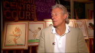 Interview with Bjorn Borg / Gerald Scarfe exhibition and photocall ENGLAND London Southfields All England Lawn Tennis Club INT Bjorn Borg interview...