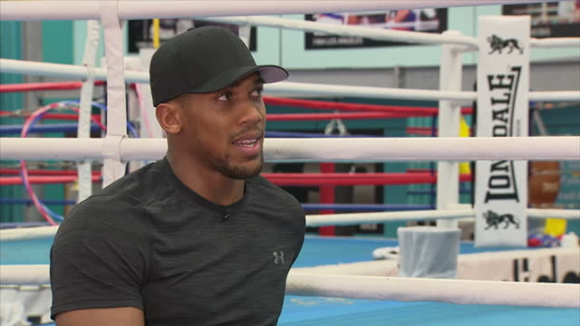 Interview with British professional boxer Anthony Joshua on being a dad at English Institute of Sport Sheffield on October 6th 2017