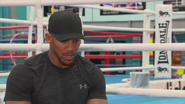 Interview with British professional boxer Anthony Joshua on being a public figure at English Institute of Sport Sheffield on October 6th 2017