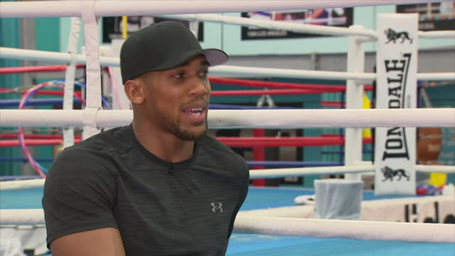 Interview with British professional boxer Anthony Joshua on learning from his fight against Wladimir Klitschko at English Institute of Sport...