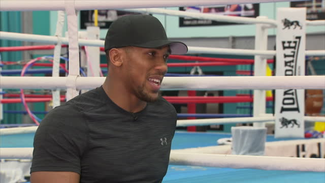 Interview with British professional boxer Anthony Joshua on what he eats while he is training at English Institute of Sport Sheffield on October 6th...