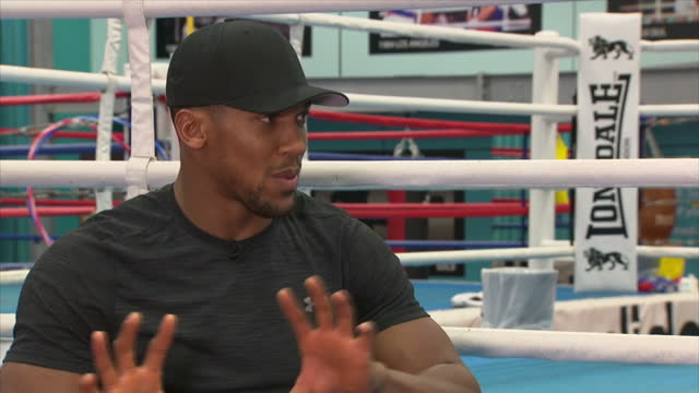 Interview with British professional boxer Anthony Joshua on working with his sponsors and how his mother feels about his boxing at English Institute...