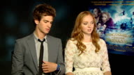 Interview with director and cast of 'The Imaginarium of Doctor Parnassus' Andrew Garfield and Lily Cole interview SOT On challenges of filming during...