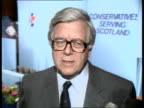 Interview with FM Howe on Soviet short range arms reducton plans **** RUSHES SCOTLAND Perth Interview Sir Geoffrey Howe on Soviet Arms reduction SOF