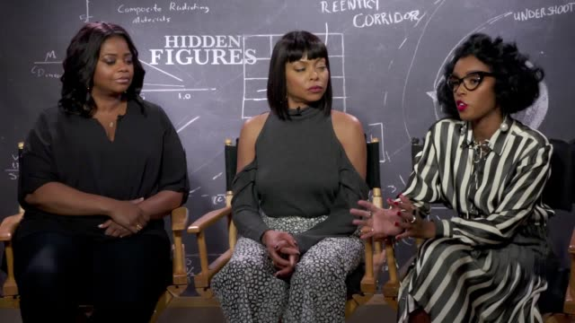Interview with Octavia Spencer Taraji P Henson and Janelle Monae for the film Hidden Figures which is released in the UK on February 17