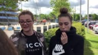 Interview with Poppy Conlon and Hayley Adamson who dropped off donations for children at the Etihad Stadium in Manchester where familes have been...
