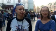 Interview with two women waiting in line for the premier of the Star Wars film on December 18th 2015