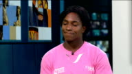 Interview with Women's World Cup winner Maggie Alphonsi ENGLAND London GIR INT Maggie Alphonsi LIVE STUDIO interview SOT