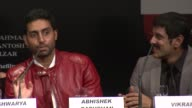Abhishek Bachchan clarifying his relationship with Aishwarya Rai and Vickram at the Raavan Event and Interviews Cannes Film Festival 2010 at Cannes