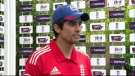 Interviews and New Zealand training ENGLAND London St John's Wood Lord's Cricket Ground EXT Alastair Cook interview on oneday series SOT / GV Cook...