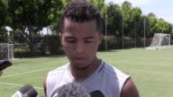 Interviews with Gio dos Santos and manager Curt Onalfo ahead of LA Galaxy's friendly match against Manchester United